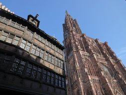photo of the medieval cathedral in Strasbourg