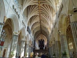 the internal architecture of the cathedral in England