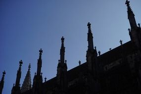 Towers with an ornament of the cathedral ulm