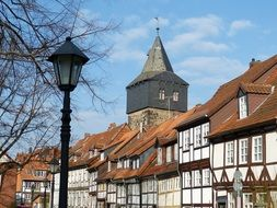 Facades of old town houses Hildesheim