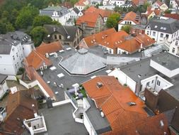 top view of the buildings in Oldenburg, Germany