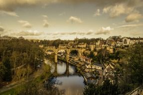 Aerial view of knaresborough