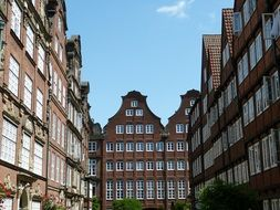 terraced houses of the old city, germany, Hamburg