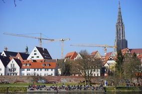 construction cranes in Ulm