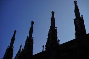 View from the bottom of the towers of Ulm Cathedral
