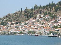 distant view of traditional architecture on the Greek islands