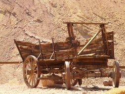 cart in the mojave desert