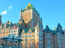 Chateau Frontenac is a castle located in Quebec