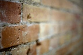 blurred brick wall