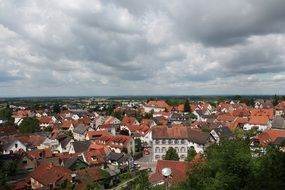 panoramic city view in germany