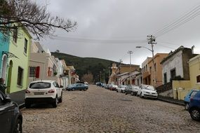 Cobbled street in bo-kaap