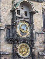 Clocks on a square in Prague