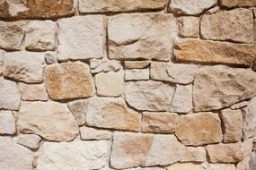 rough stone built wall