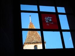 gruyere castle switzerland window