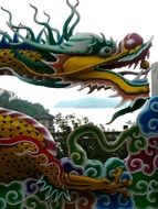original colorful chineese dragon statue