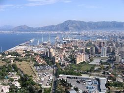 Palermo aerial view, Sicily