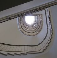 architecture of an old white staircase