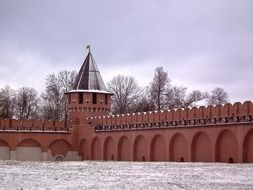 Landscape of Red brick fortress