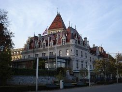 castle ouchy lausanne switzerland