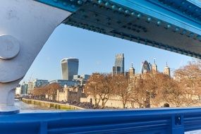 view of london from tower bridge