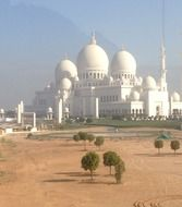 white Sheikh Zayed Mosque in Abu Dhabi