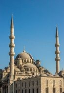 Landscape of blue mosque in istanbul