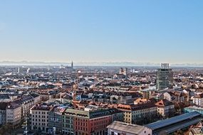 amazing distant view of Munich