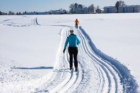 Photo of cross country ski on a snowy mountains