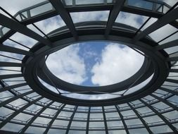 glass dome at sky, germany, berlin