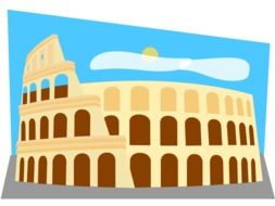 Clipart of ancient colosseum