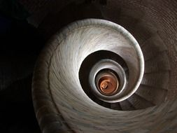 spiral staircase top view