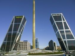 Photo of leaning towers in Madrid