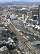 Aerial view of southbank