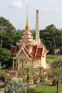 Buddhist temple in a park in Thailand
