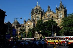 Landscape of victoria station in Mumbai
