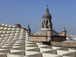 picturesque roofs in seville