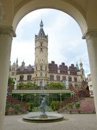 Fountain in Schwerin castle