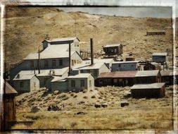 a gold mine in a ghost town