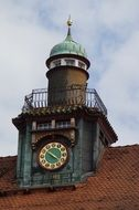 old tower with a clock on the roof