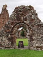 Stone ruins of the old chapel in Scotland