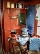 Old kitchen exposition in zuiderzee outdoor museum
