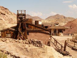 silver mining in ghost town in the Mojave Desert