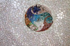 Mosaic tile design in Park Guell