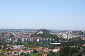 panoramic view of the portuguese city of leiria