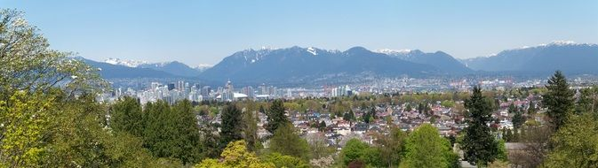 panoramic view of Vancouver City