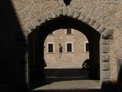 arched gate in the building