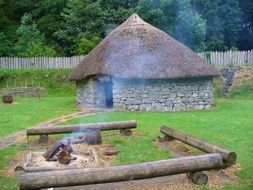 hut stone age home antique