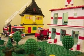 Town made of Lego blocks
