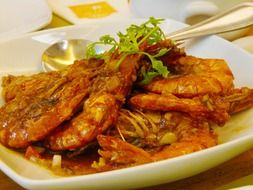 Delicious fried prawns