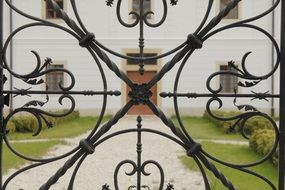 unusual wrought iron gate